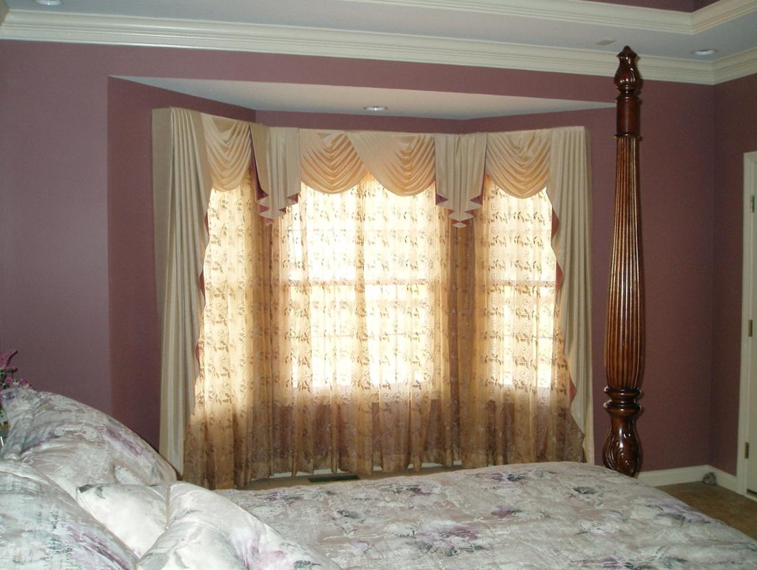 Bay Window Curtain Ideas For Bedroom Home Design Ideas