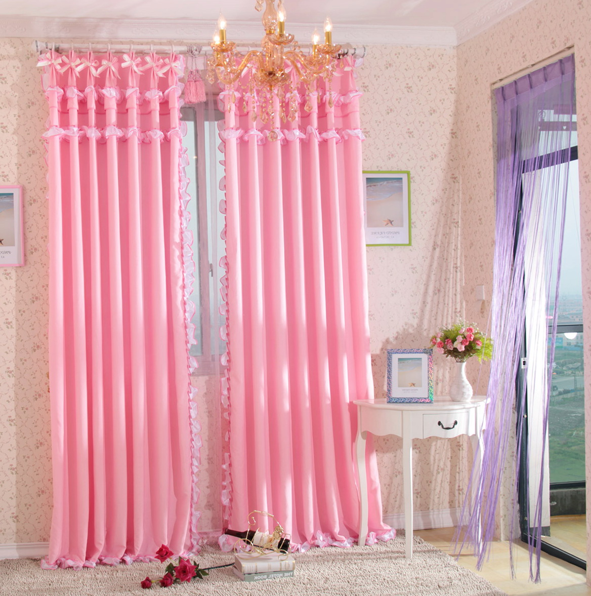 Bedroom Window Curtains Pink Home Design Ideas