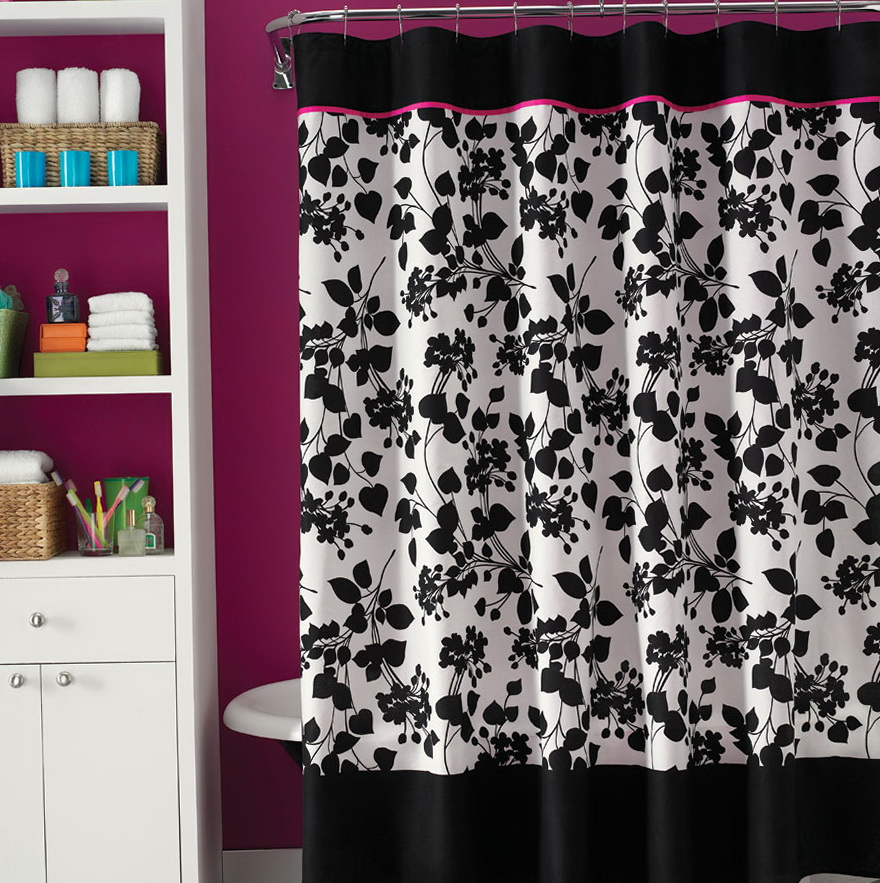 Black And White Shower Curtains Home Design Ideas