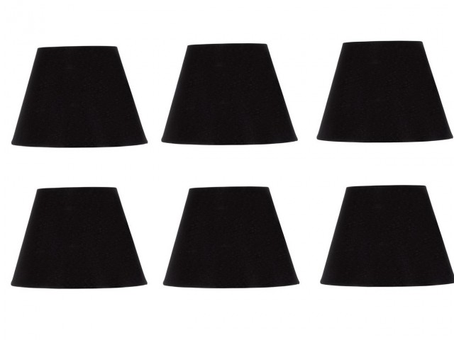 Black Mini Chandelier Lamp Shades