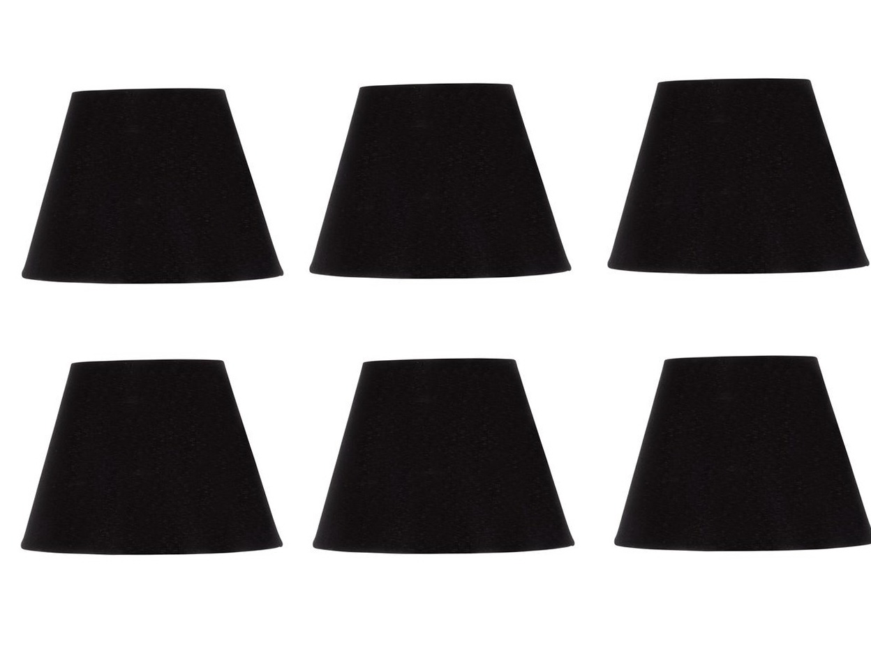 Black Mini Chandelier Lamp Shades