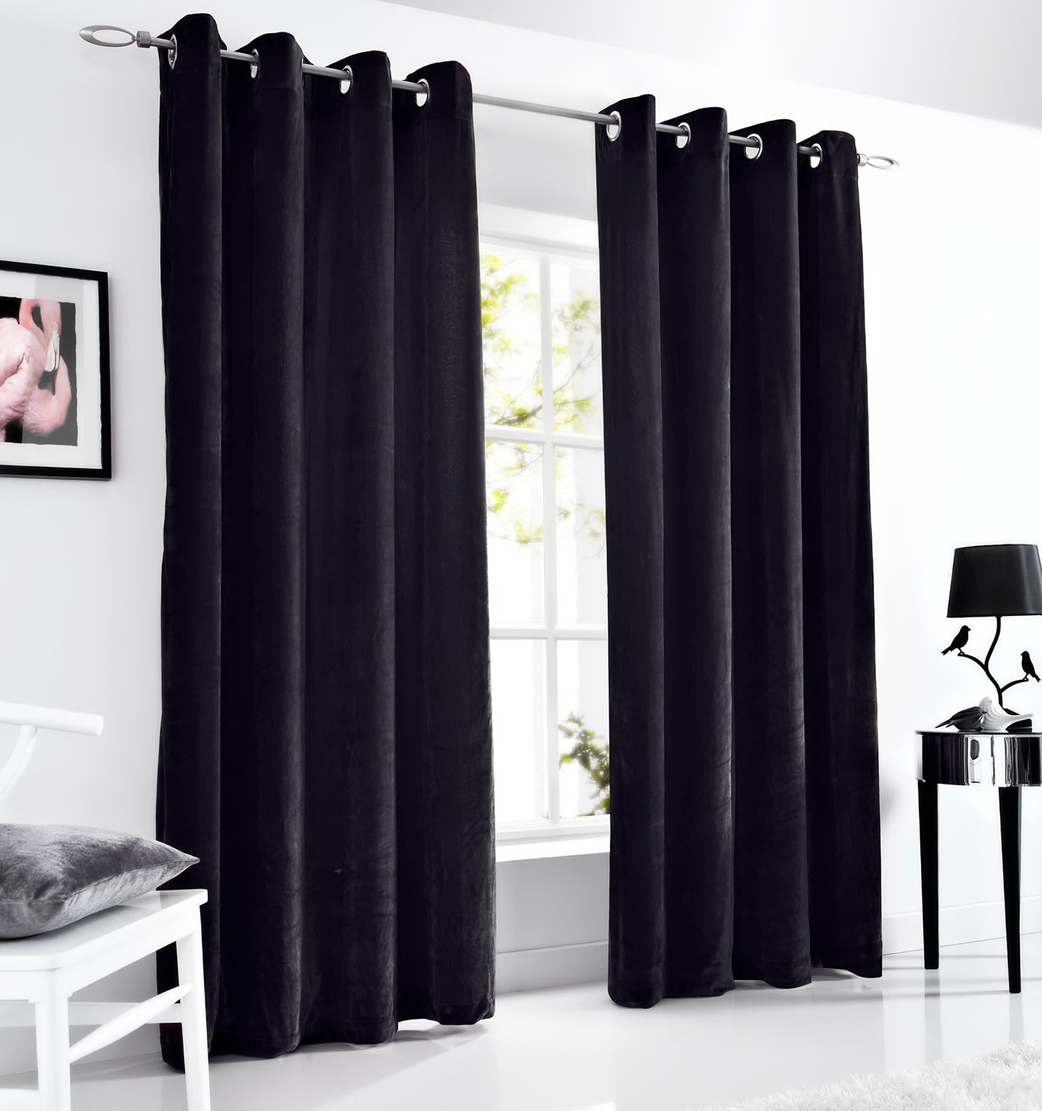 Black Velvet Curtains 90 215 90 Home Design Ideas