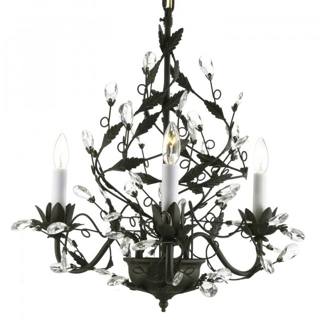 Black Wrought Iron Chandeliers