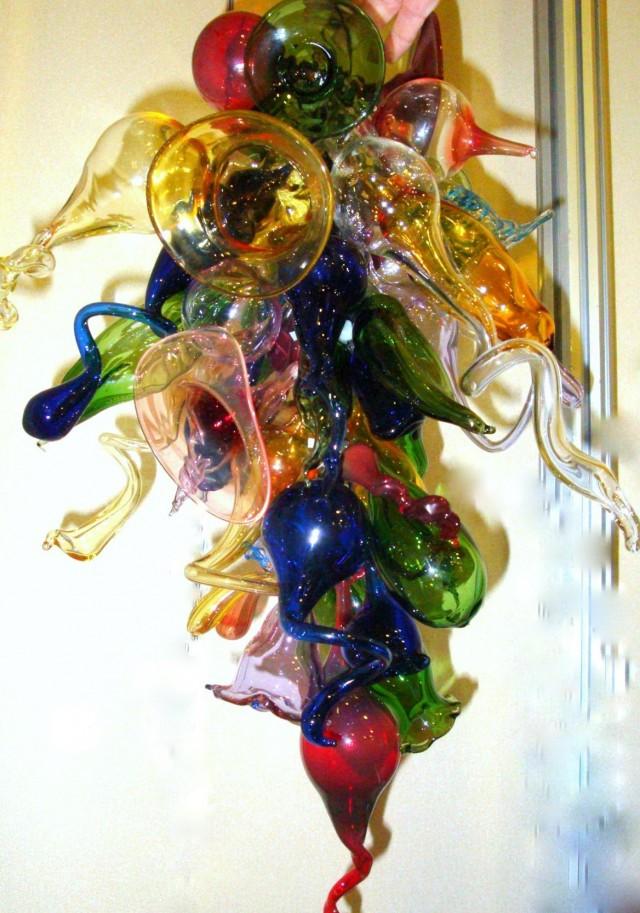 Blown Glass Chandelier Artist
