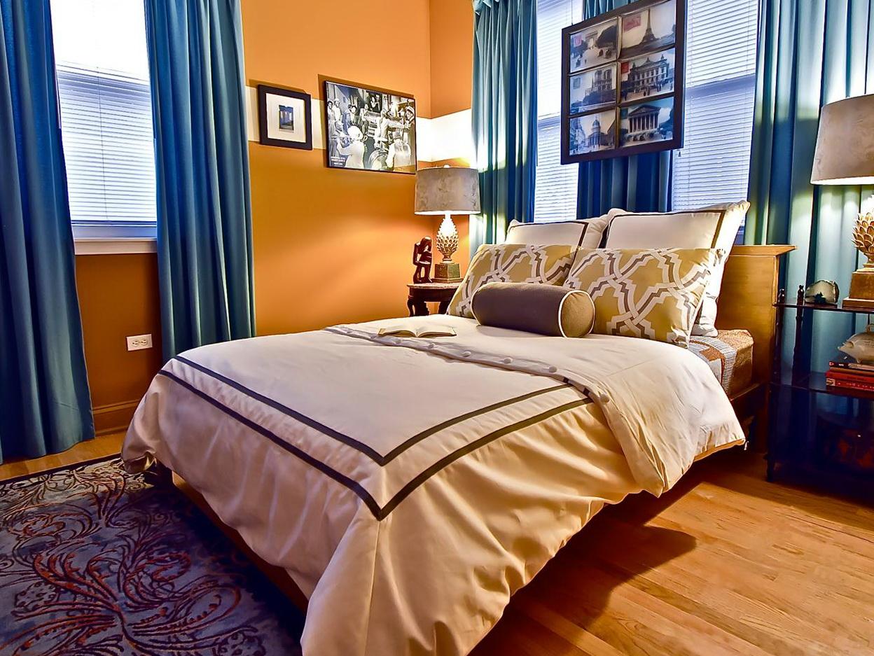 Blue And Orange Curtain Panels