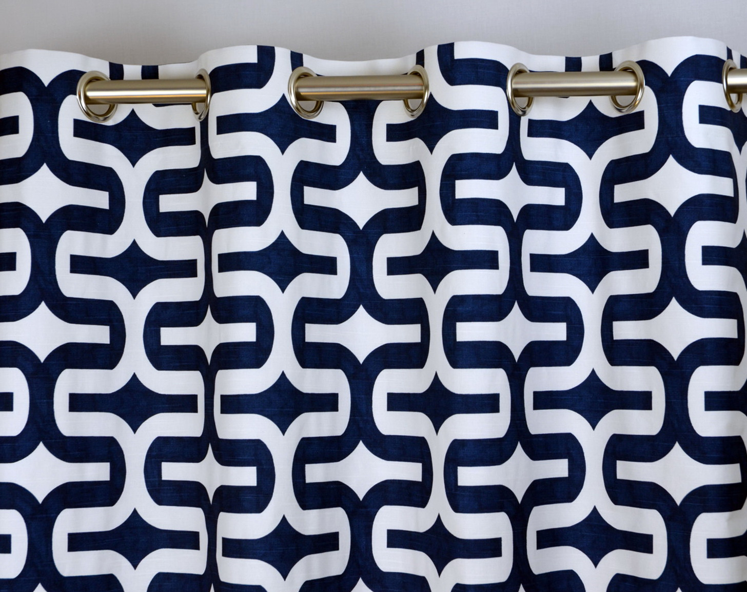 Blue And White Patterned Curtains