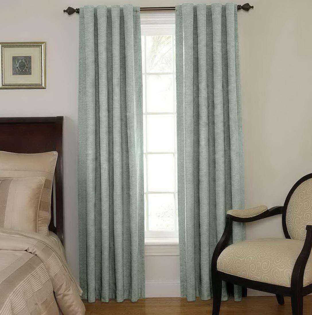 Blue Bedroom Window Curtains