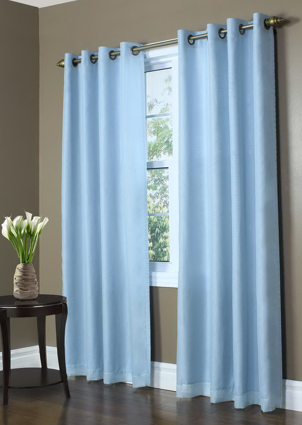 Blue Curtain Panels With Grommets