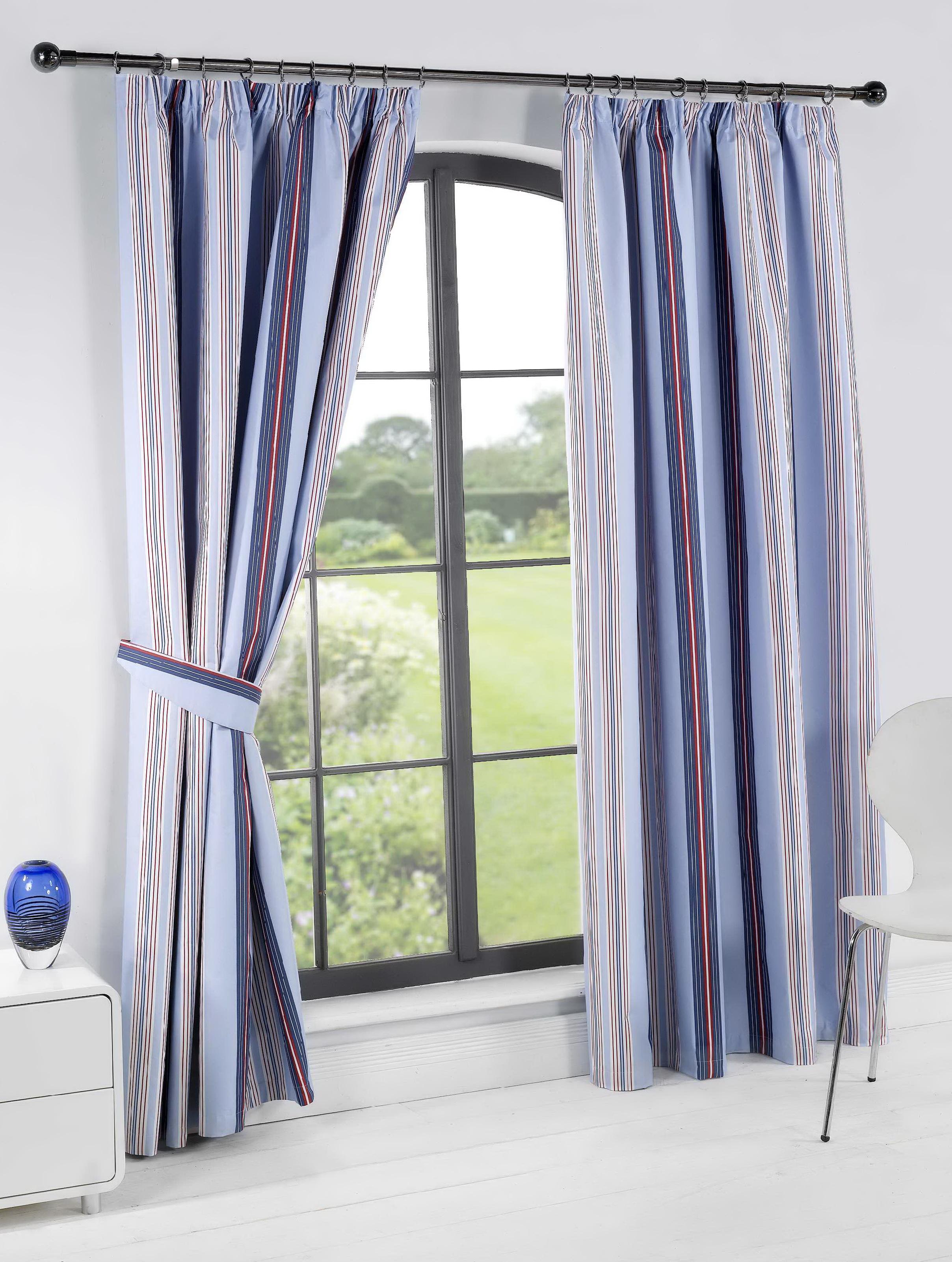 Blue Striped Curtains Uk