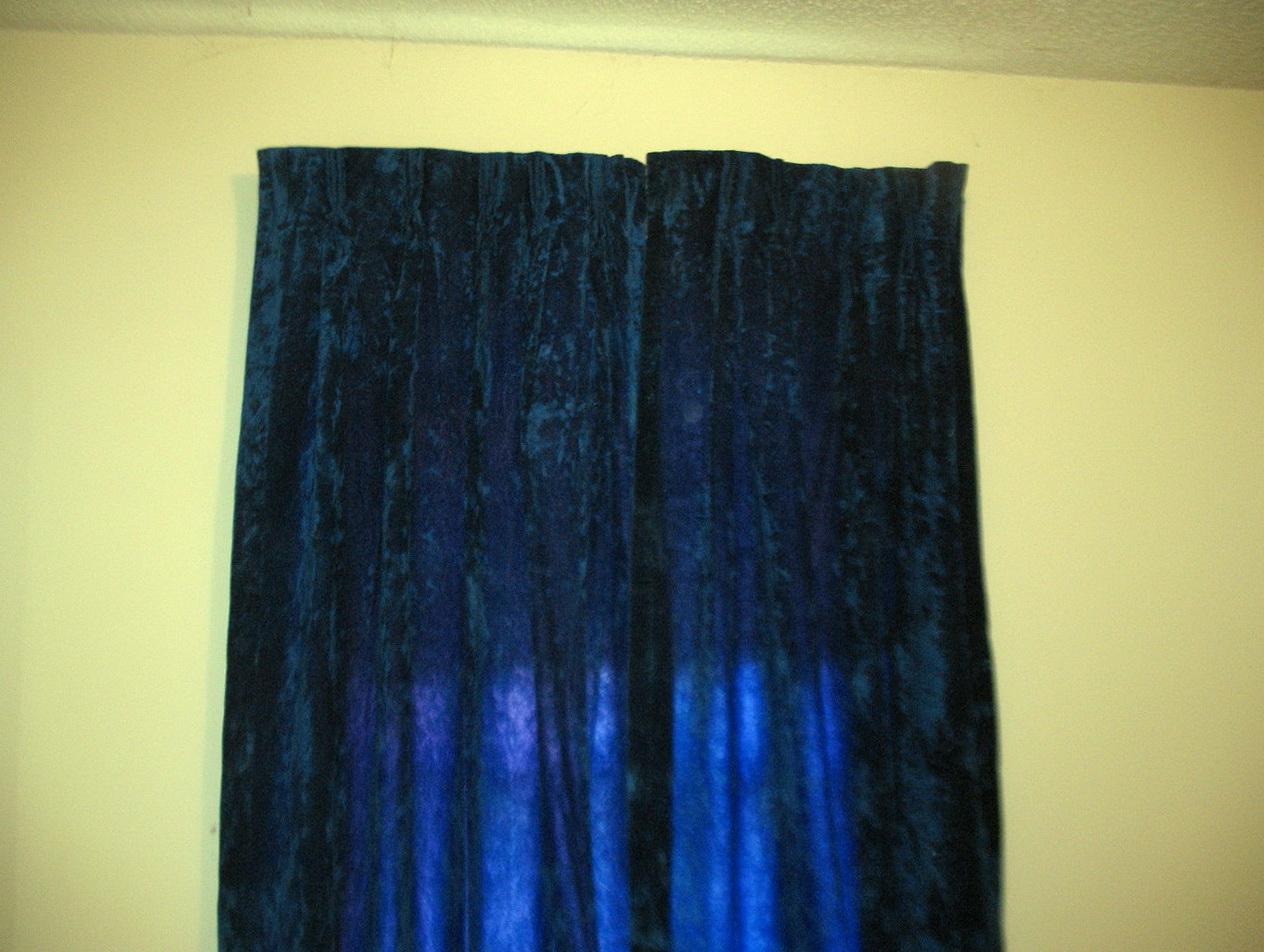 Blue Velvet Curtains Ebay