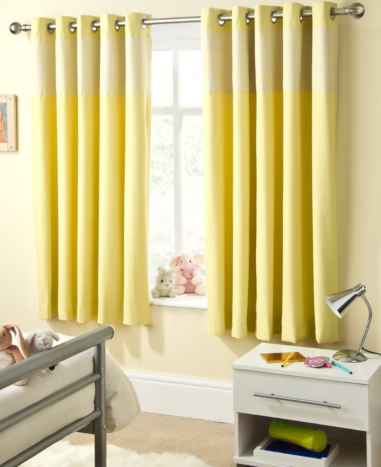 Bright Yellow Curtain Panels