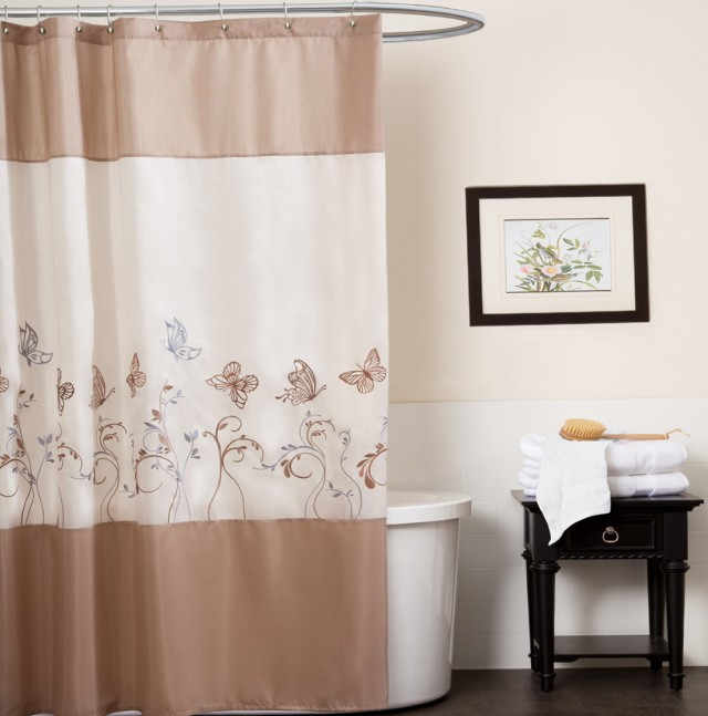 Brown And White Shower Curtains 28 Images Brown And White Shower Curtain Pmcshop K2