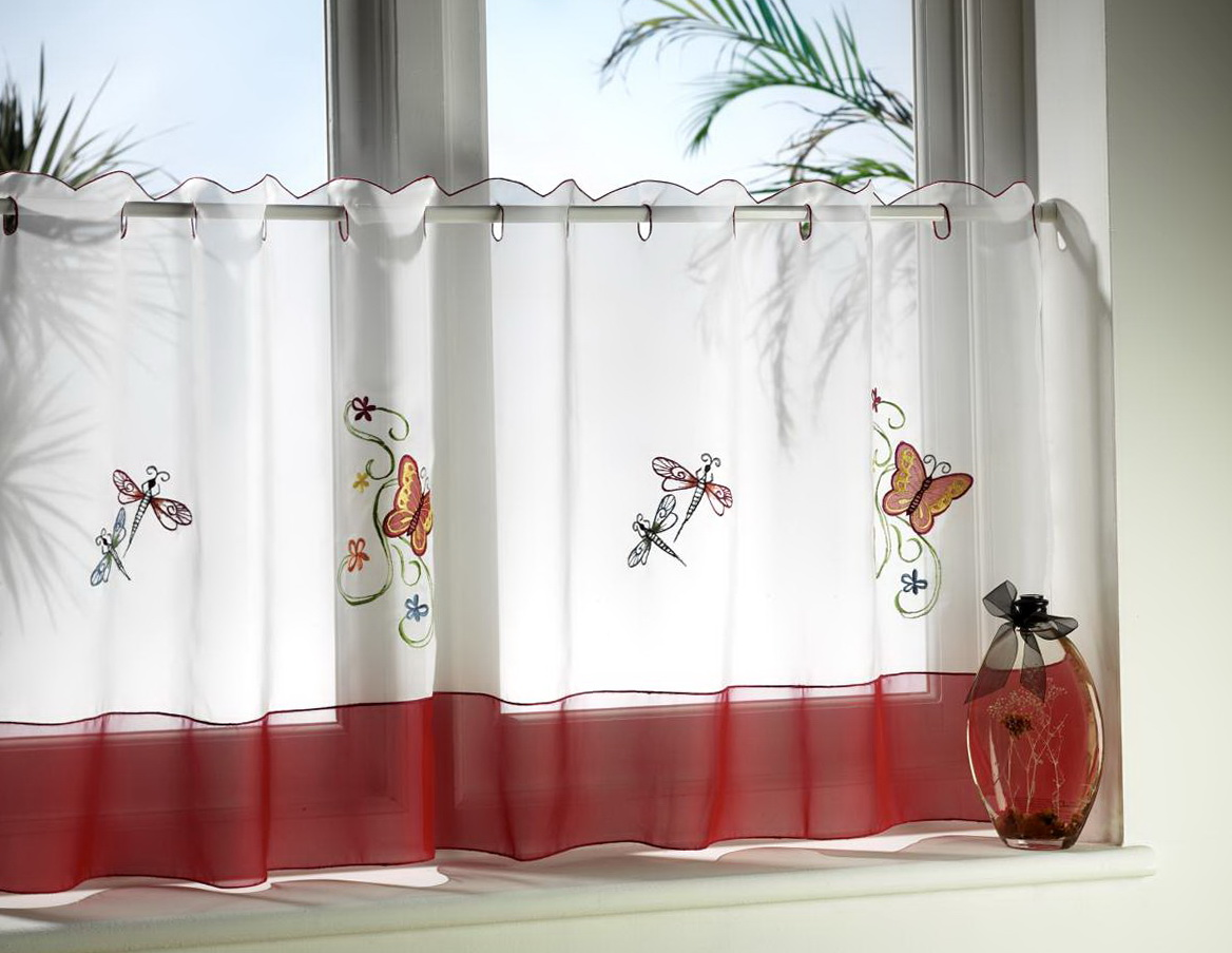 Cafe Style Curtain Rods Home Design Ideas