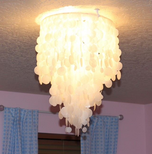 Capiz Shell Chandelier Diy
