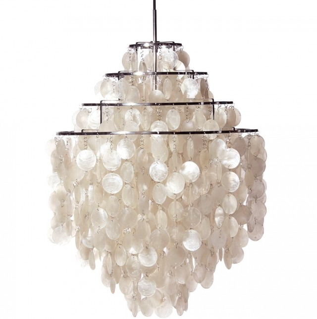 Capiz Shell Chandelier Lighting