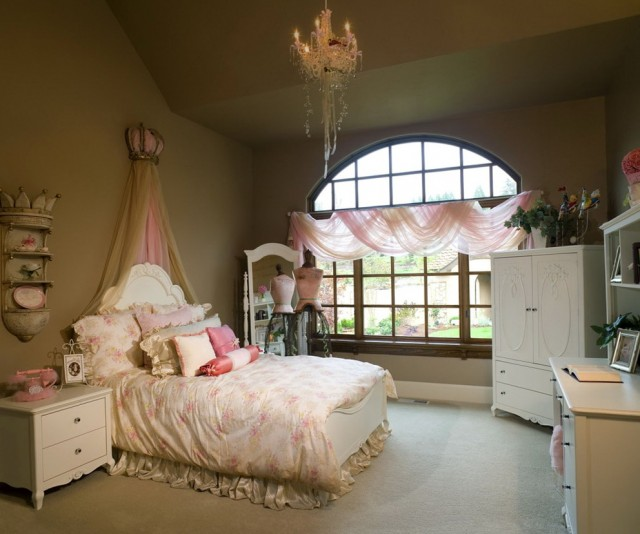 Chandelier In Girls Bedroom