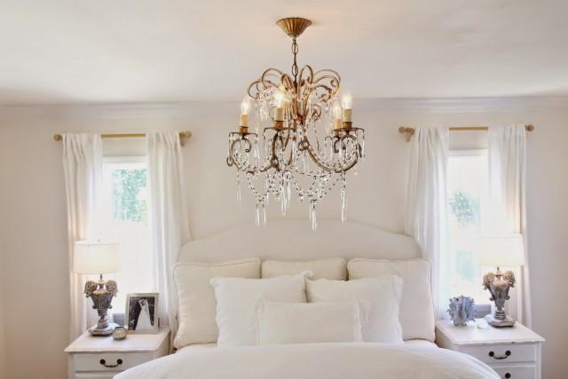 Chandelier In Master Bedroom