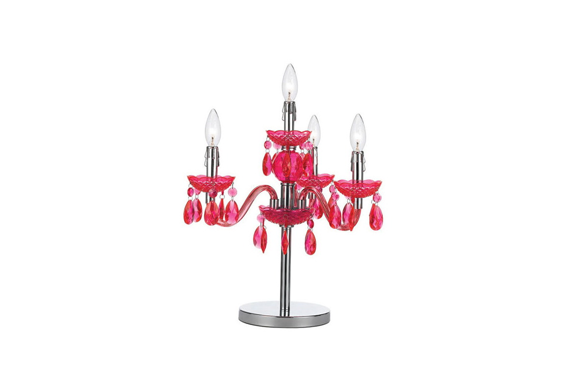 Chandelier Table Lamp Pink