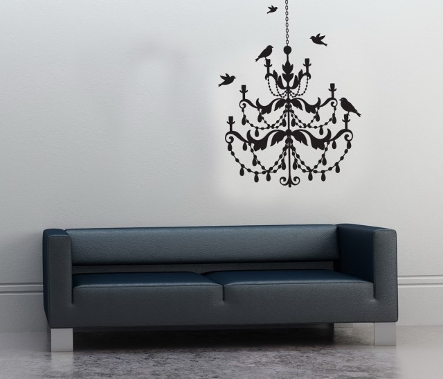 Chandelier Wall Art Stickers