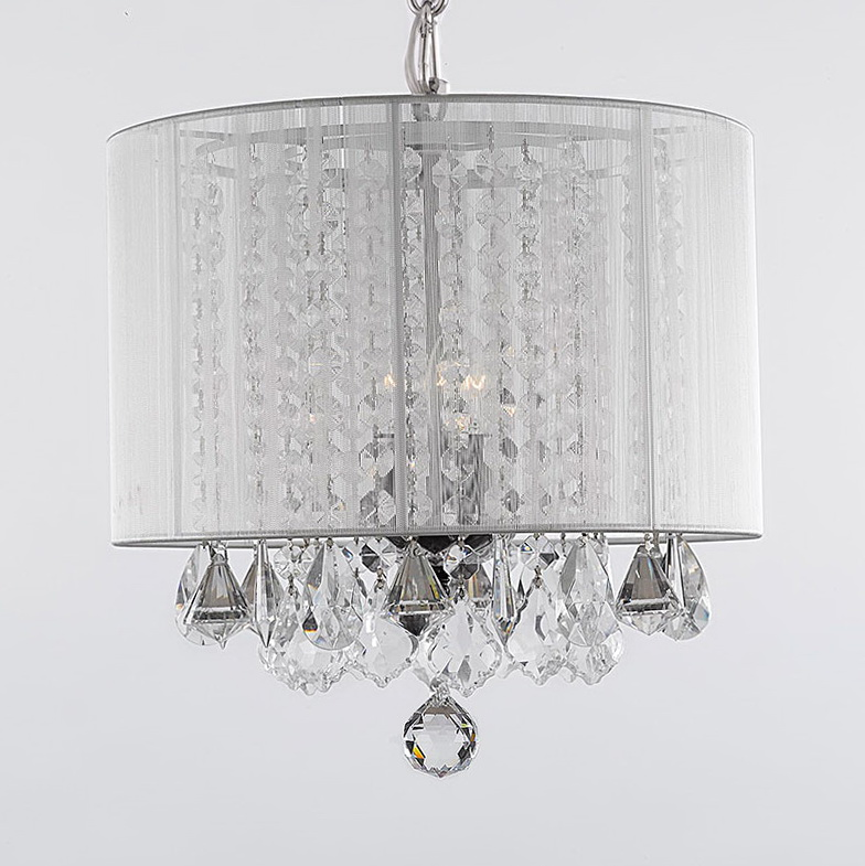 Chandeliers With Shades And Crystals