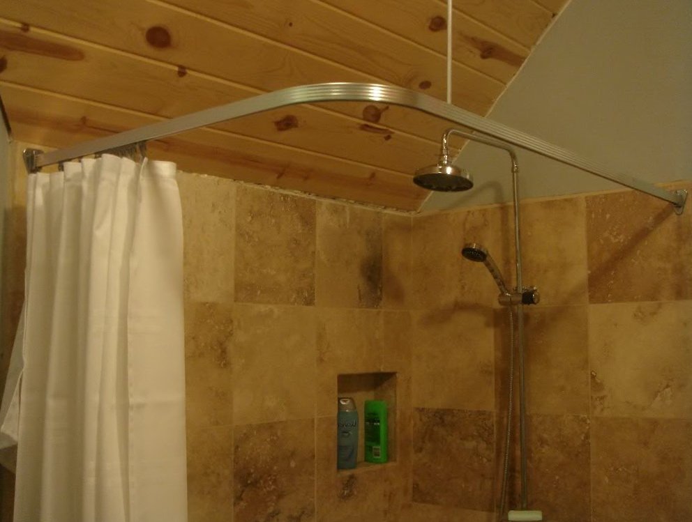 Clawfoot Tub Shower Curtain Rod Ceiling Mount Home Design Ideas