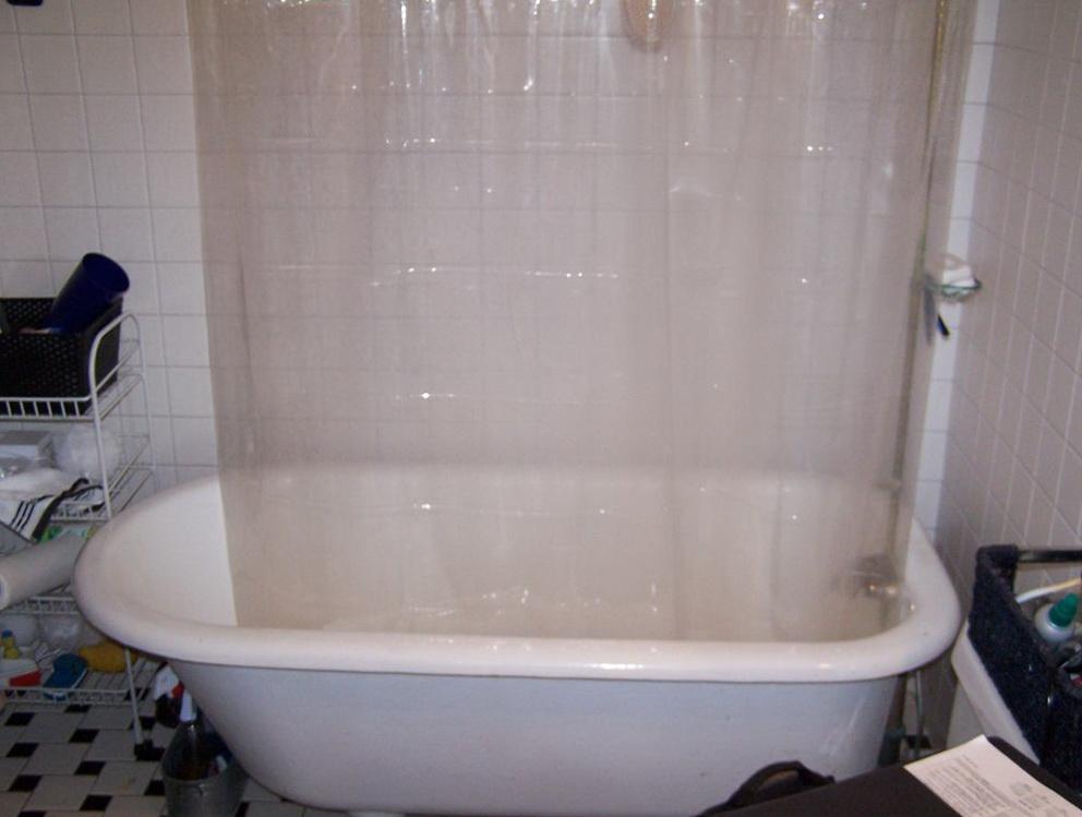 Clawfoot Tub Shower Curtain Rod Kit Home Design Ideas