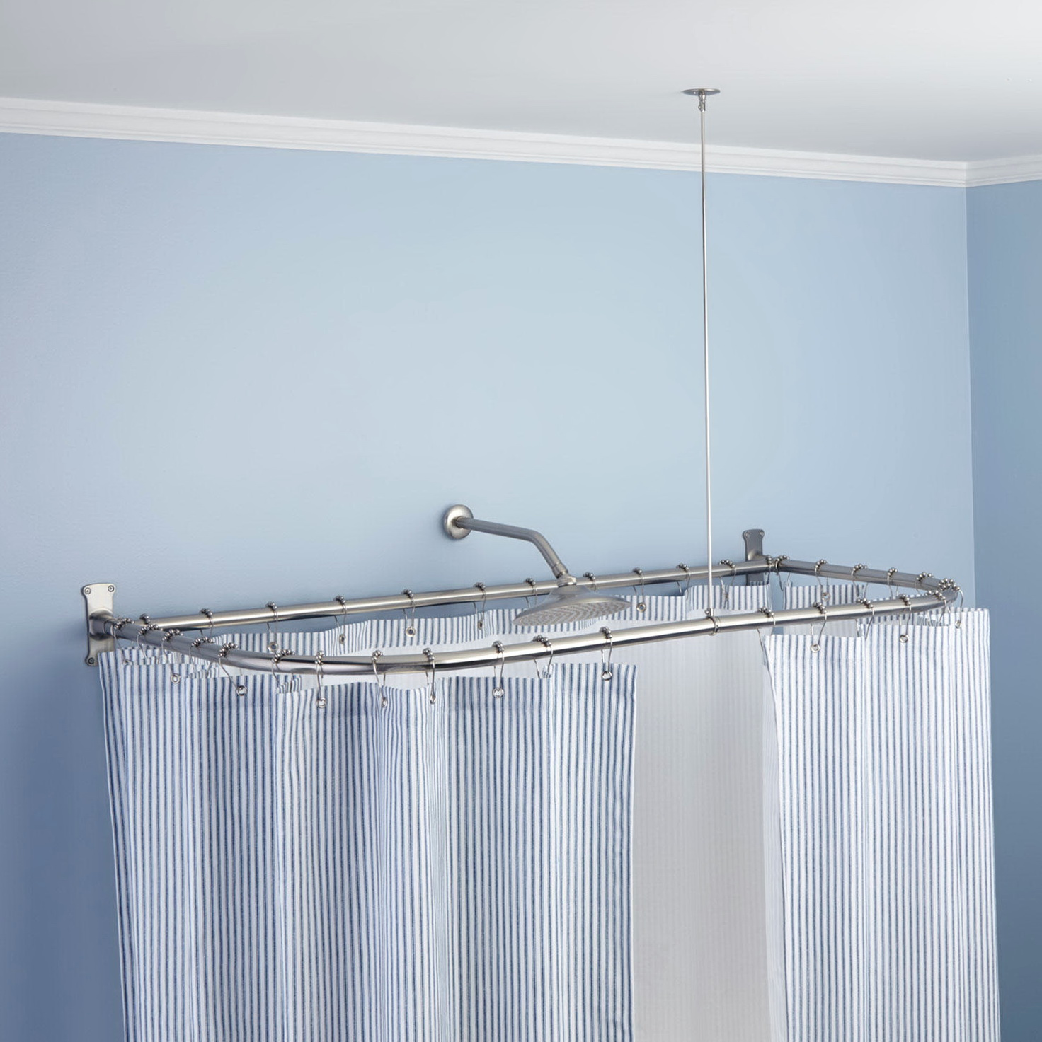 Clawfoot Tub Shower Curtain Rod Support Home Design Ideas