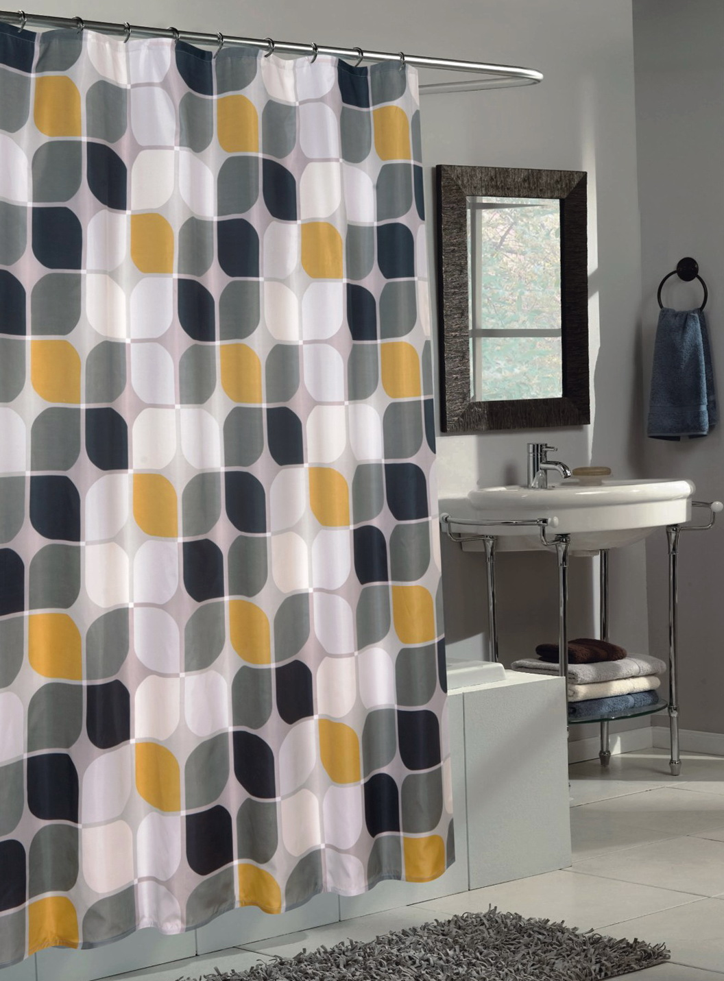 Contemporary Bathroom Shower Curtains