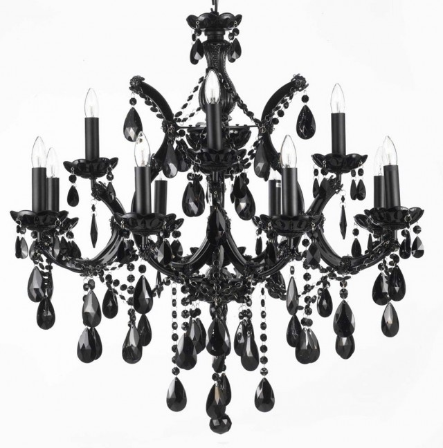 Contemporary Black Chandelier Lighting