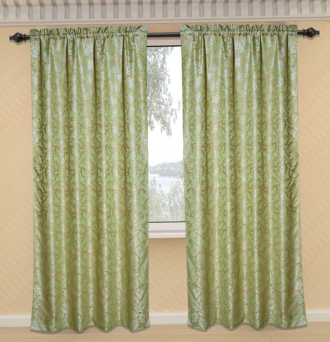 thermal curtain bedroom panel awesome tuscan blackout of curtains pair backed sage inch