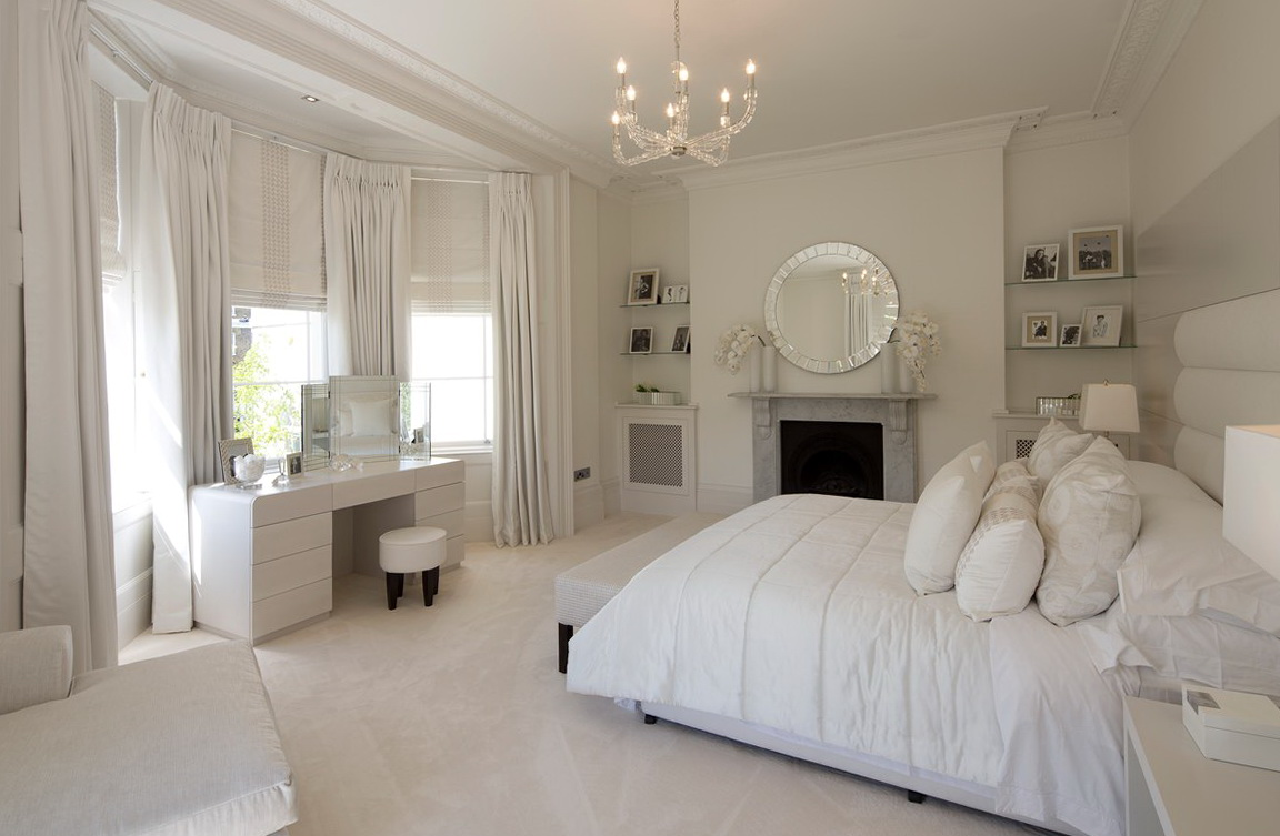 Crystal Chandelier In Bedroom