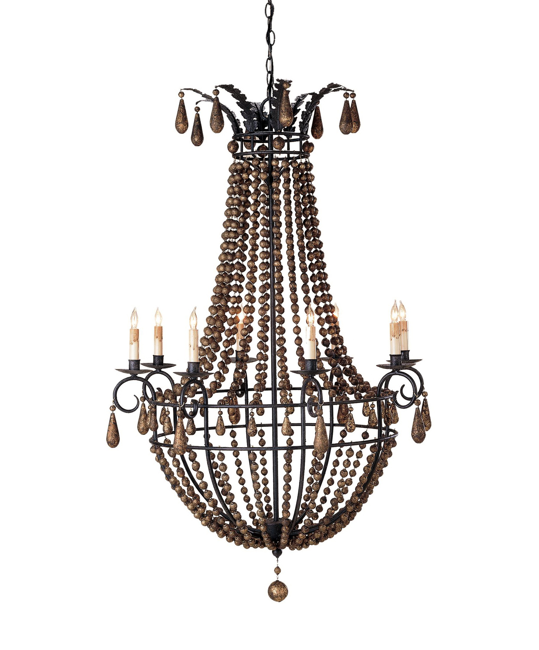 product beaded chandeliers chandelier fox home bead painted farmhouse wood french the img