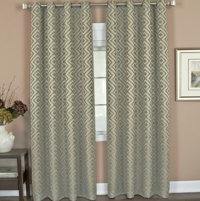 Post Tensioning Grommet : Short curtain rods for panels home design ideas