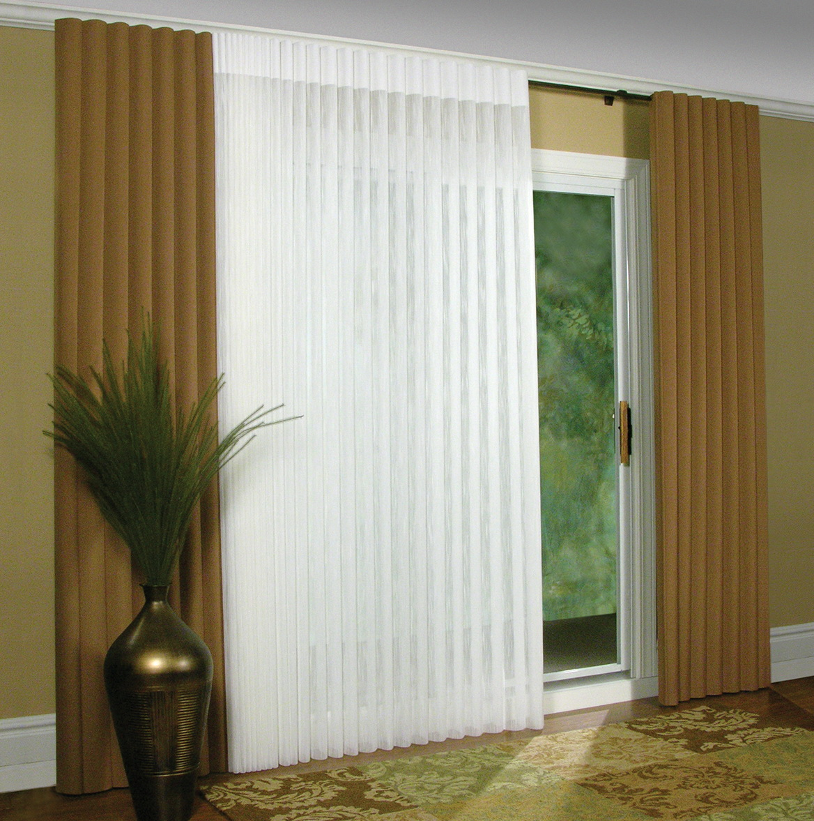 Curtains and blinds for sliding glass doors home design for Sliding glass doors curtains