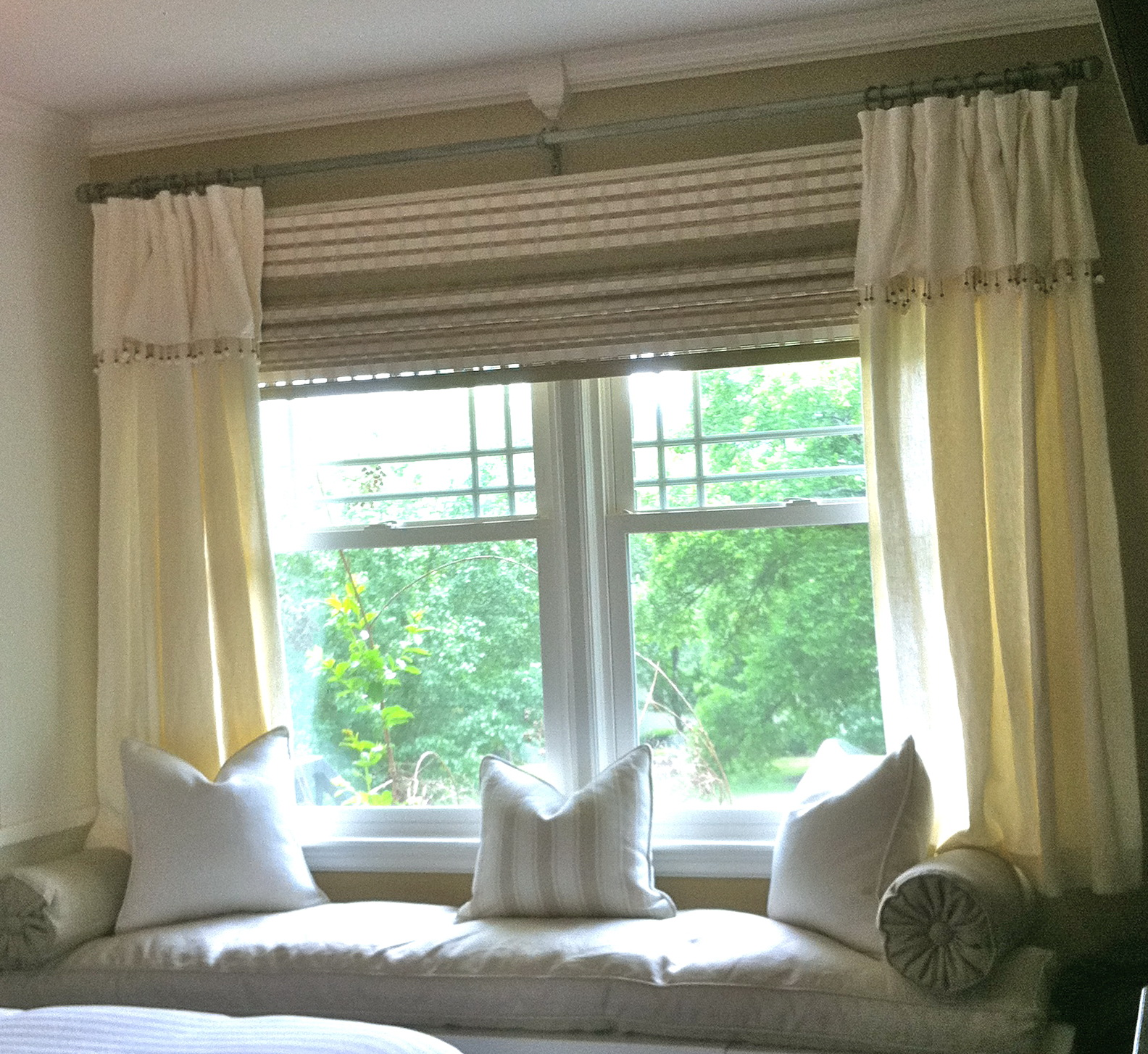 Curtains for long wide windows home design ideas for Long window curtain ideas