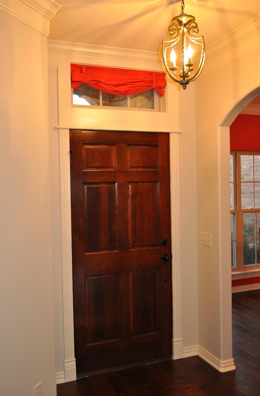 Curtains Over Front Door