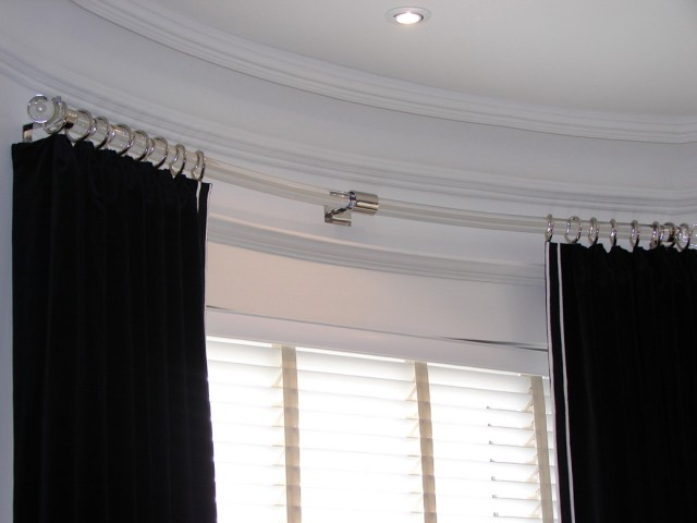 Curved Curtain Rods For Bay Windows
