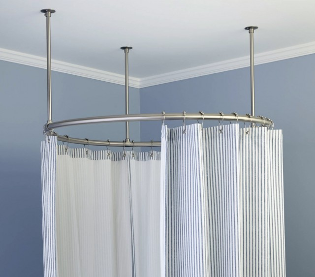 Curved Shower Curtain Rods For Shower Stalls Home Design