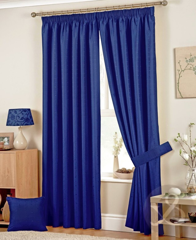 Dark Blue Sheer Curtains