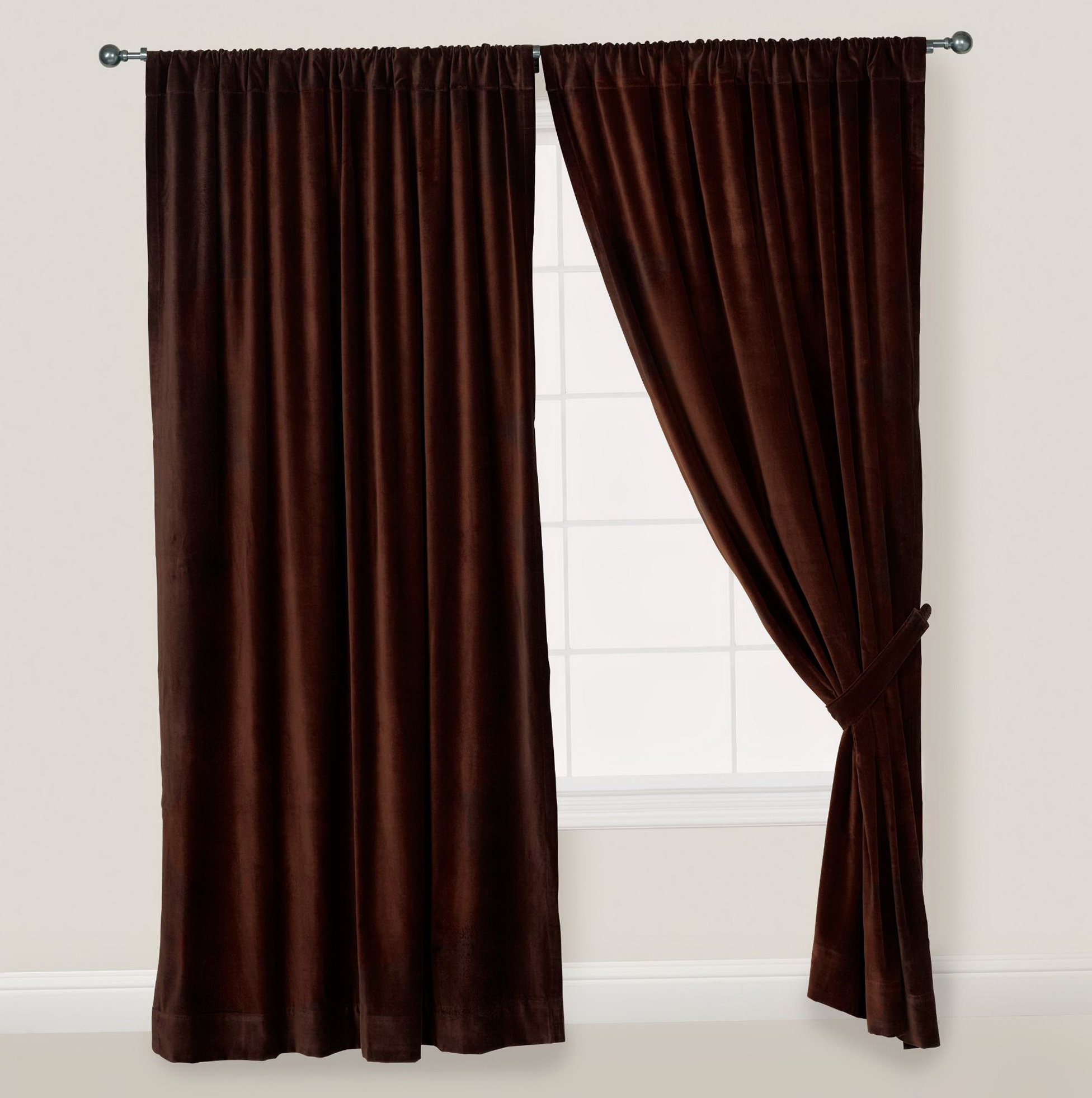 Dark Brown And Blue Curtains Home Design Ideas