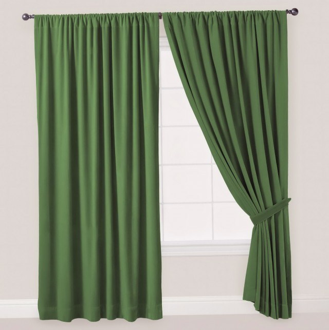 Dark Green Curtain Panels