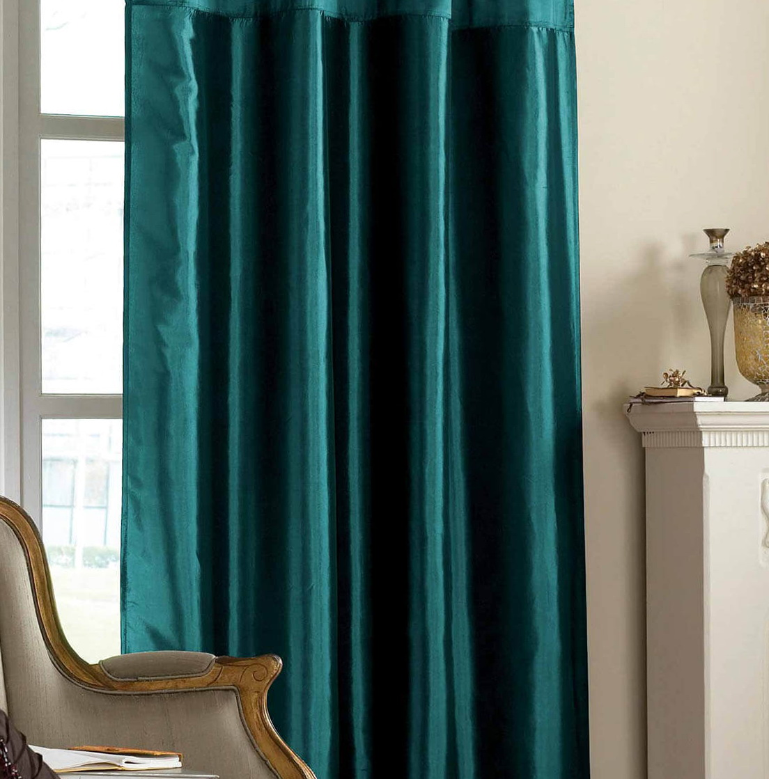 Dark Teal Curtain Panels Home Design Ideas