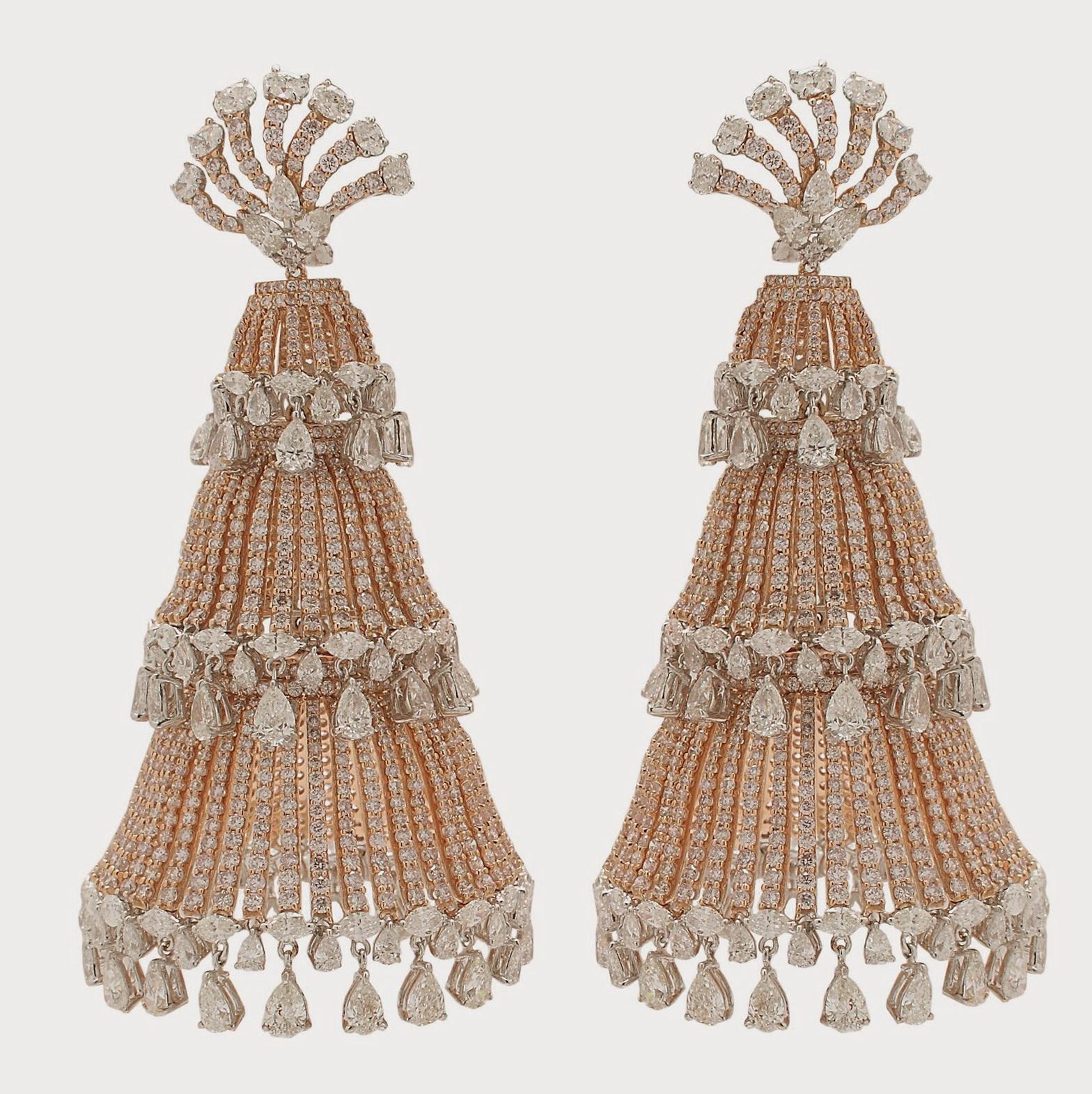 Diamond Chandelier Earrings India