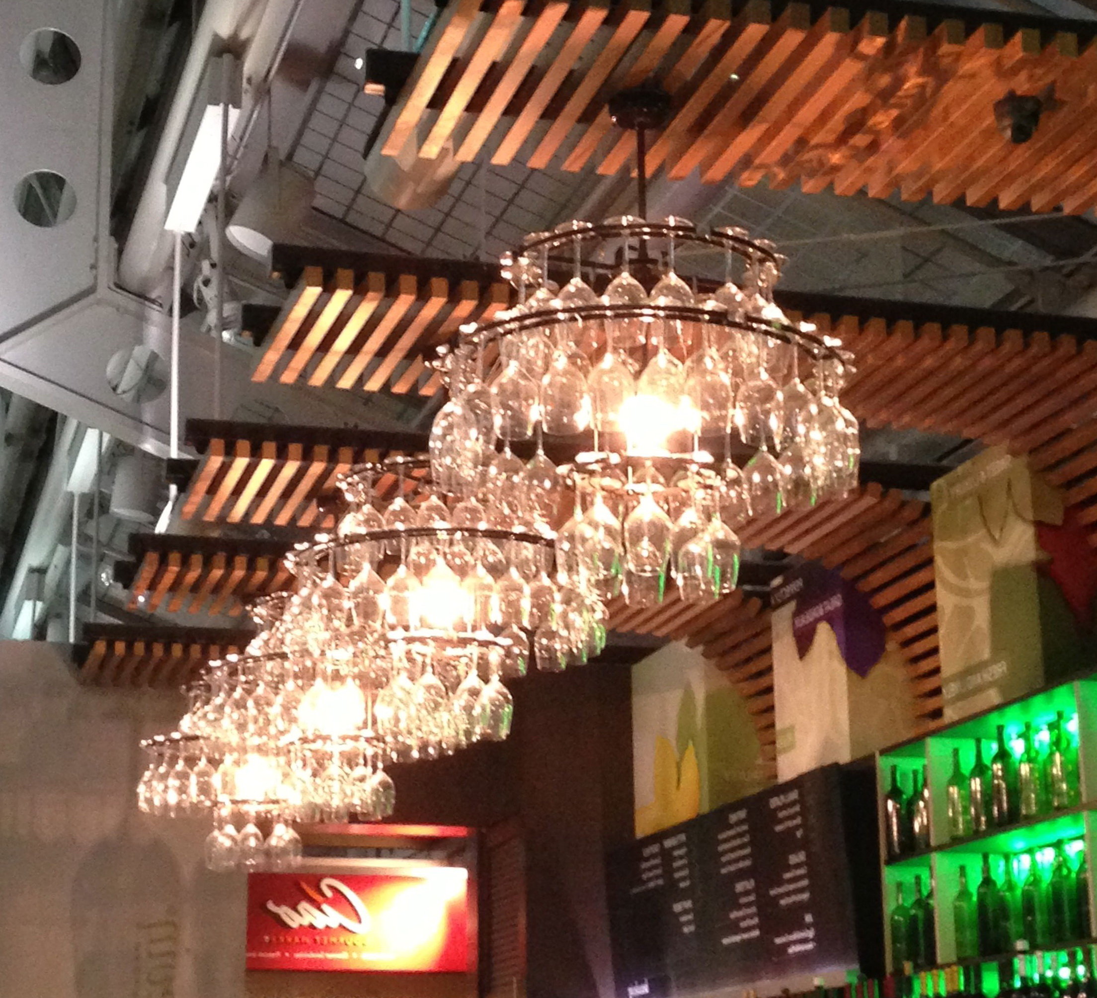 Diy Idea Wine Glass Chandelier