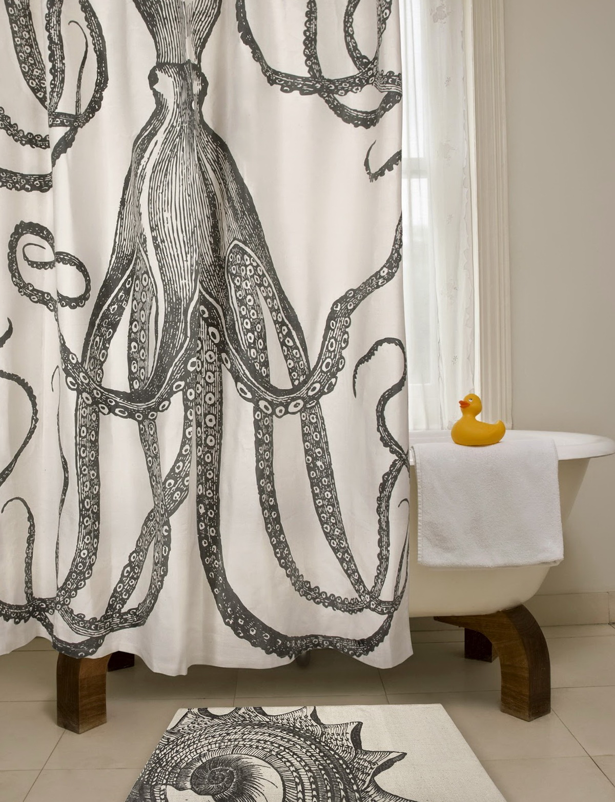Diy Shower Curtain Art