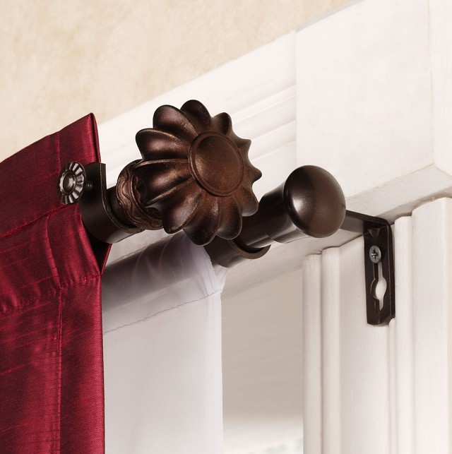 Double Curtain Rod Set Home Depot