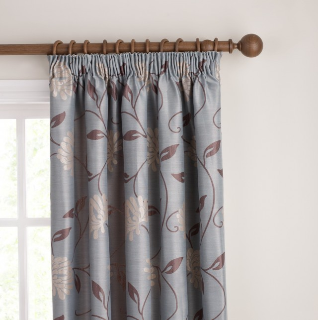 Blue And Tan Curtains: Duck Egg Blue And Brown Curtains