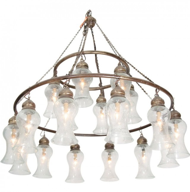 Egyptian Hand Blown Glass Chandelier