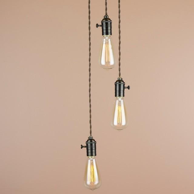 Exposed Light Bulb Chandelier