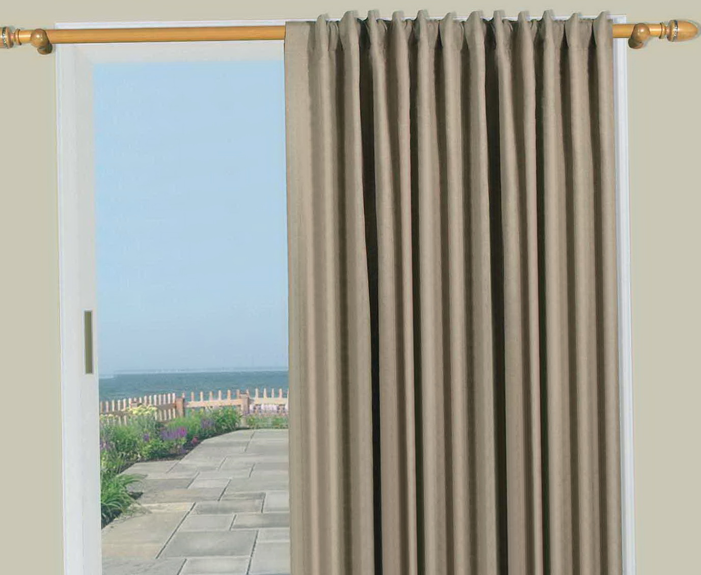Extra Wide Curtain Panels For Patio Door Home Design Ideas